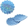 Sequins Hologram 36mm With Hole Flower Blue